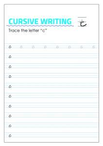 Letter c - Lowercase Cursive Writing