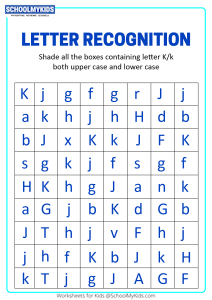 Identify Uppercase and Lowercase Letter K - Letter Recognition
