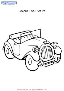 Noddy Car - Noddy colouring pages