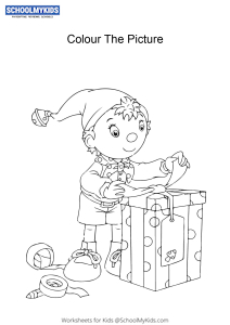 Noddy's perfect gift - Noddy colouring pages