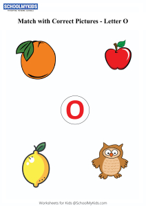 Letter O sound word pictures - Matching Letters to Pictures