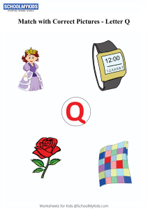Letter Q sound word pictures - Matching Letters to Pictures