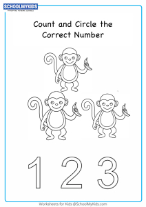 Counting Number up to 3