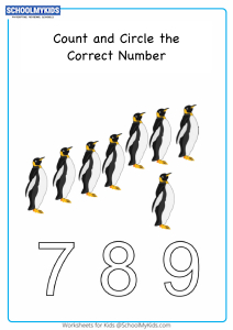 Count And Circle The Correct Number up to 9