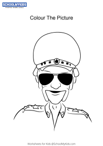 Police Inspector Chingam - Motu Patlu Coloring Pages