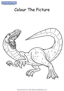 Angry Tyrannosaurus Rex Dinosaur - Dinosaur Coloring Pages