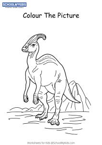 Saurolophus Dinosaur - Dinosaur Coloring Pages