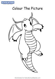 Pokemon Dragonite - Pokemon Coloring Pages