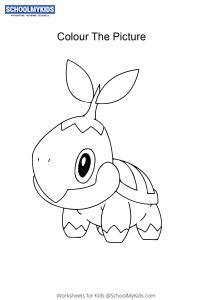 Pokemon Turtwig - Pokemon Coloring Pages