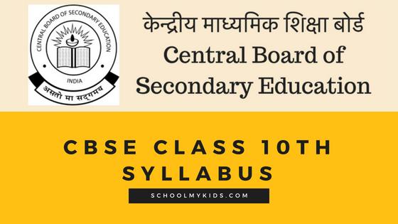 CBSE Class 10th Syllabus 2020-2021 – Class X Curriculum