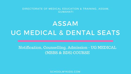 Assam UG MBBS & BDS Admission 2019 | Assam NEET UG Counselling, Registration, Merit List, Cut off Rank, Detailed information Medical and Dental Colleges