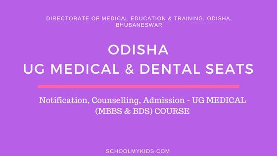 Odisha UG MBBS BDS Admission 2019 – Odisha UG NEET Counselling, Registration, Merit List, Cut off Rank, Detailed information Medical and Dental Colleges