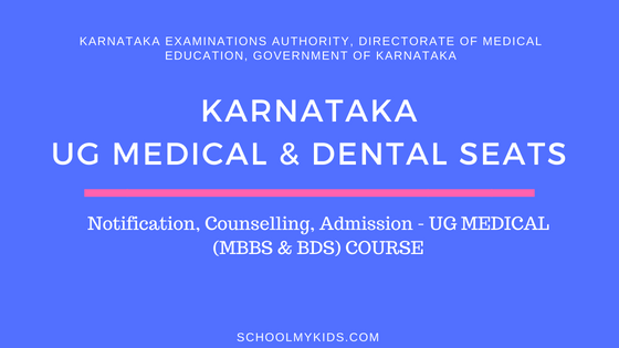 Karnataka UG MBBS & BDS Admission 2019 – Karnataka NEET Counselling, Registration, Merit List, Cut off Rank