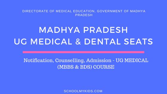 Madhya Pradesh UG MBBS & BDS Admission 2019 – MP NEET Counselling, Registration, Merit List, Cut off Rank