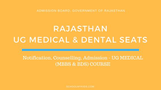 Rajasthan UG MBBS & BDS Admission 2019 – Rajasthan NEET Counselling, Registration, Merit List, Cut off Rank