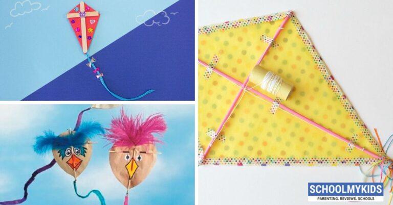 पेपर क्राफ्ट से कैसे बनाएं पतंग – How to Make Paper Kite for Kids in Hindi