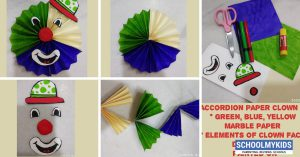 Accordion Clown – Paper Craft – DIY Ideas