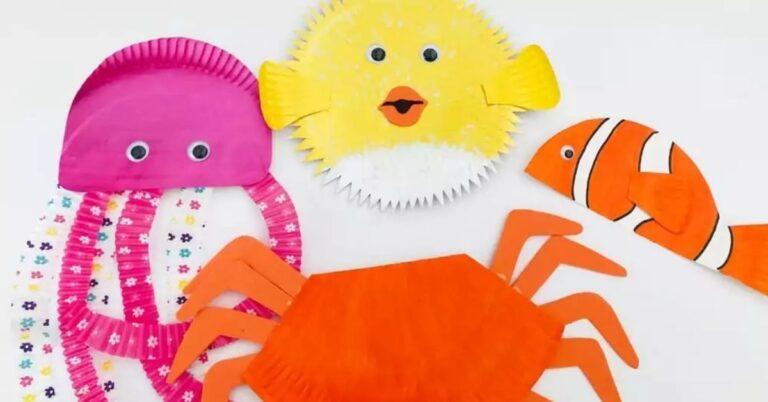 पेपर प्लेट से कैसे सजाएं समुद्र की दुनिया – Paper Plate Ocean Animals