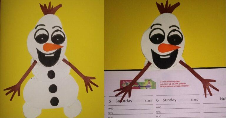Frozen Olaf Corner Bookmark