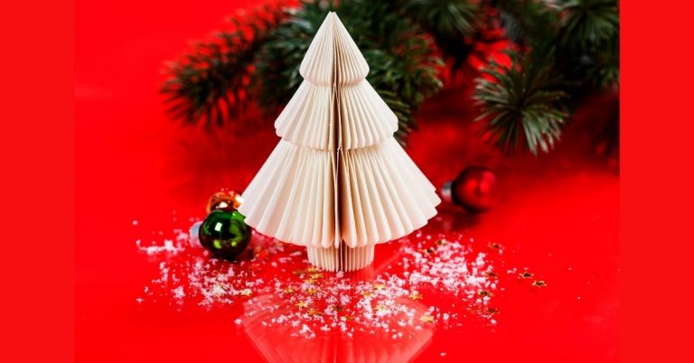 How to Make 3D Paper Christmas Tree – DIY Christmas Crafts