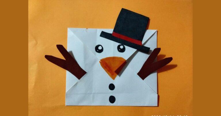 Smiling Snowman Envelope