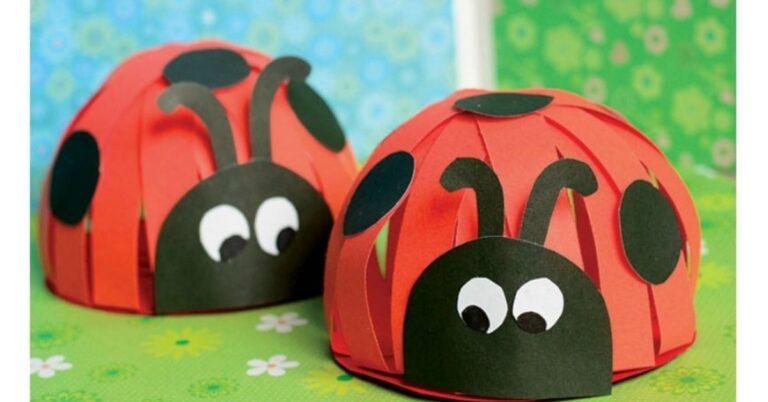 3D Paper Ladybug Craft for Kids