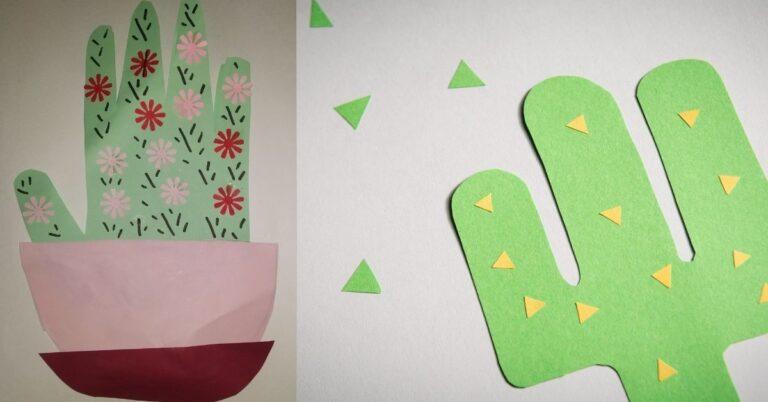 Handprint Cactus DIY Card