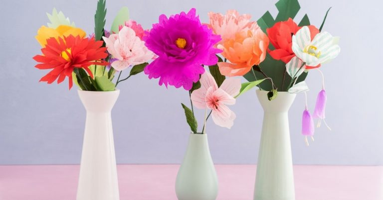 Easy DIY Paper Flower Craft