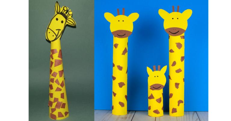 DIY Easy Paper Giraffe